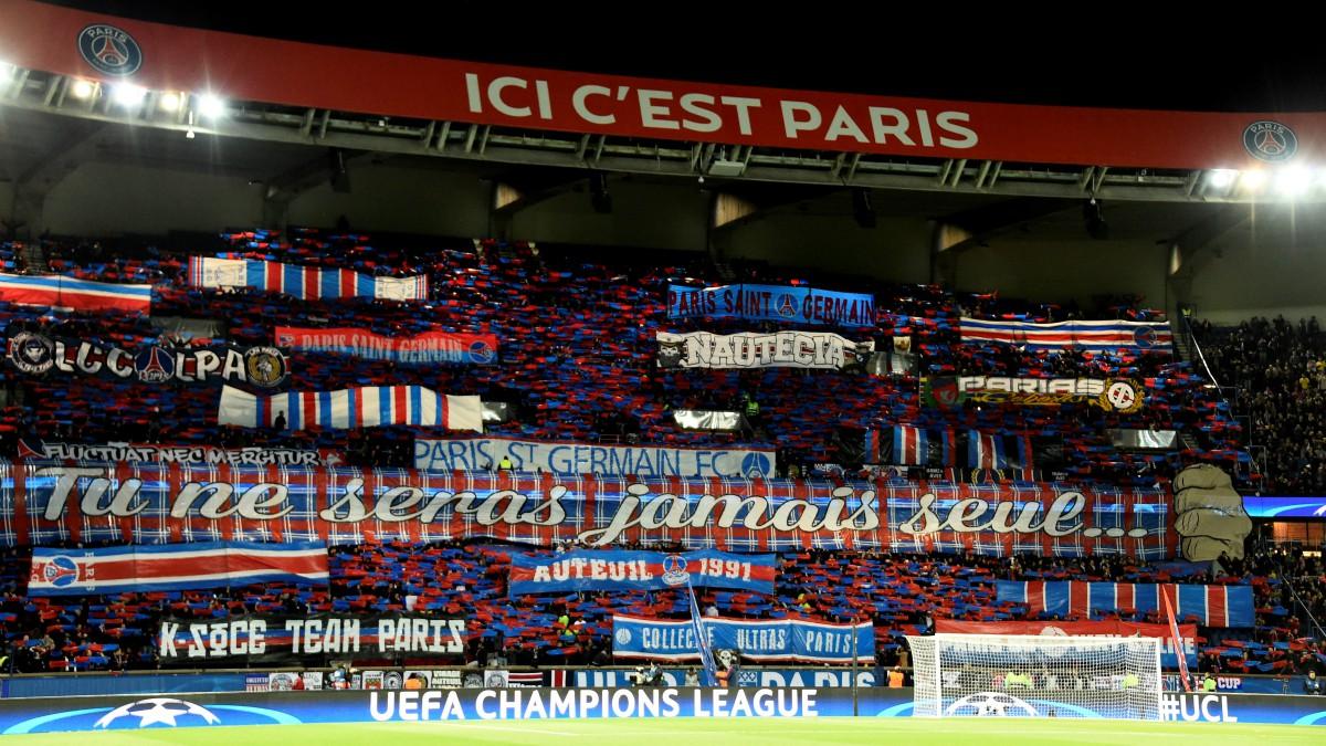 El Parque de los Príncipes, antes de un partido de Champions League. (AFP)