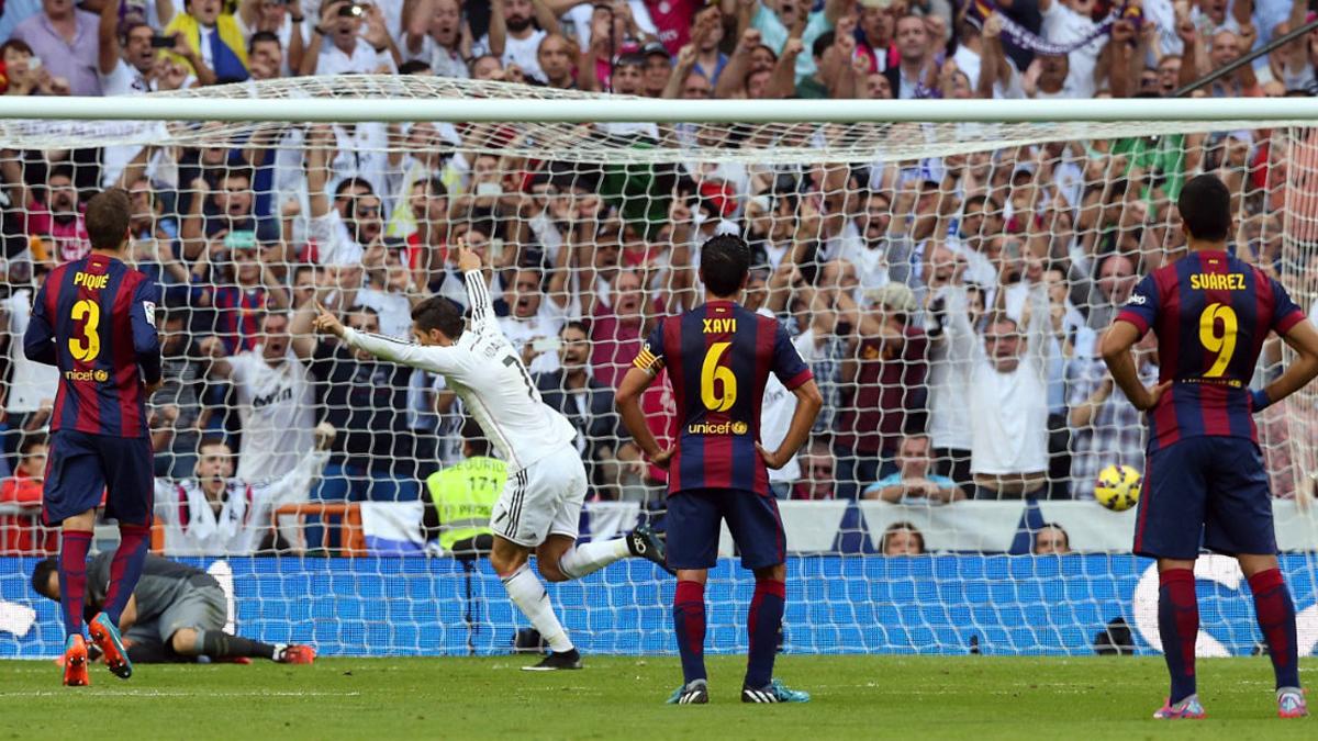 Cristiano Ronaldo, celebrando aquel gol en 2014.