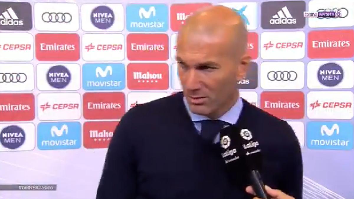 Zidane se marchó cunado le preguntaron por el mercado invernal.