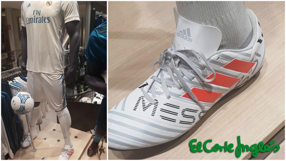 La imagen de las botas de Messi con la equipación madridista (Dani González).