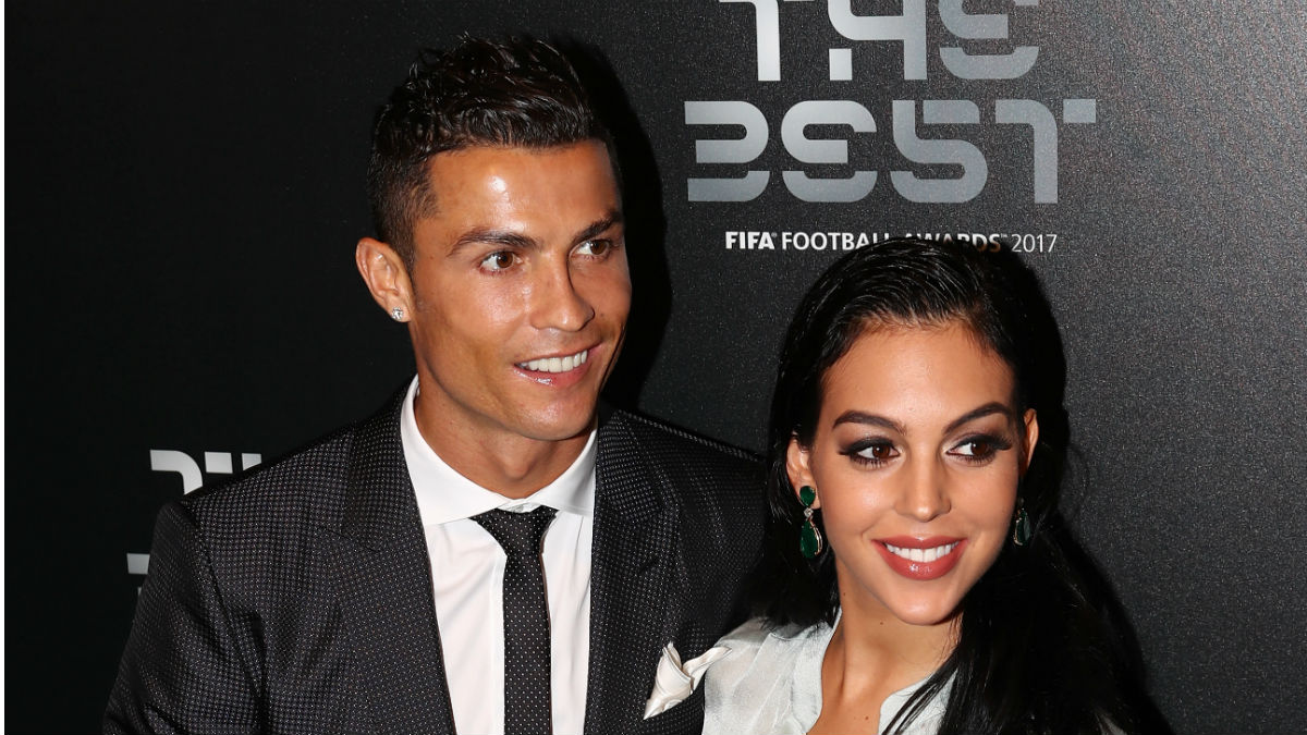 Cristiano junto a Georgina en los premios The Best (Getty)