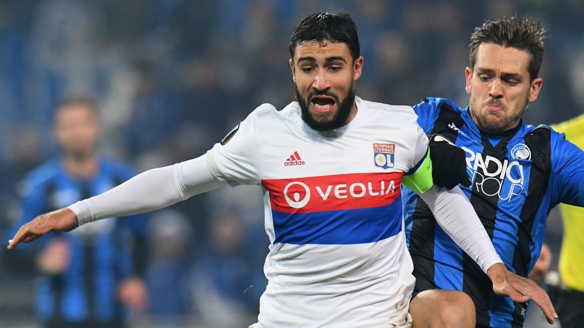 Nabil Fekir durante un partido de la Europa League con el Olympique de Lyon. (Getty Images)