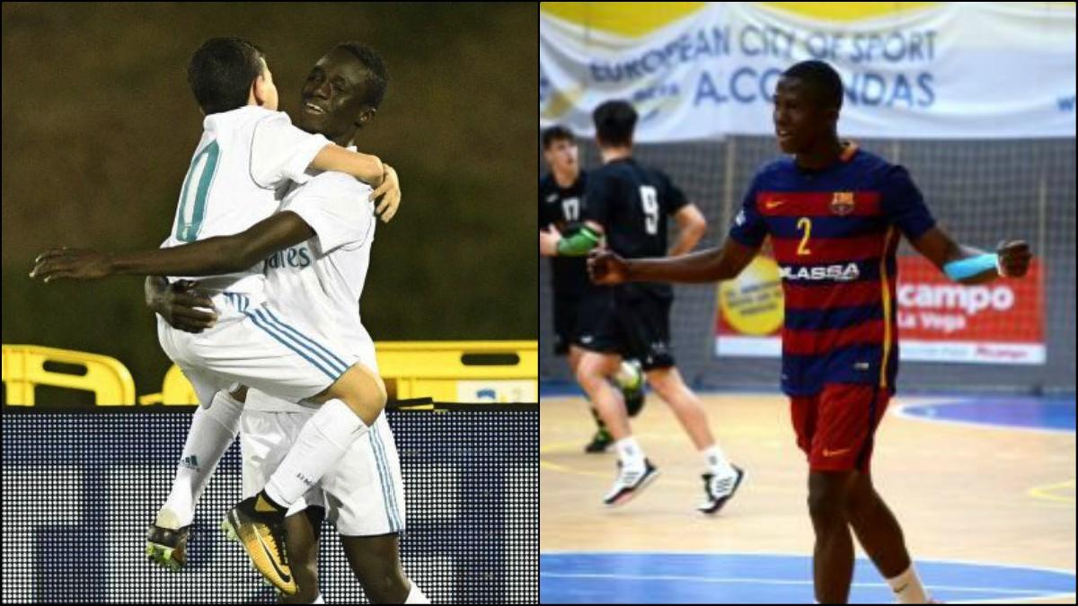 Baba y Mamadou, uno juega en el Real Madrid y el otro, en el Barça de balonmano.