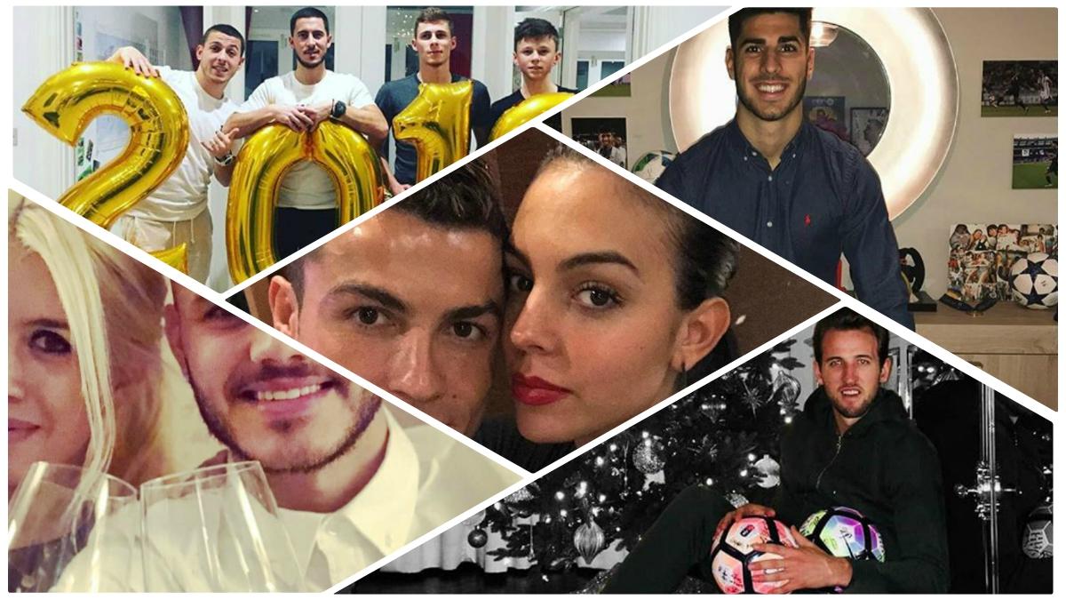 La Nochevieja de los futbolistas. (Fotos: Instagram)
