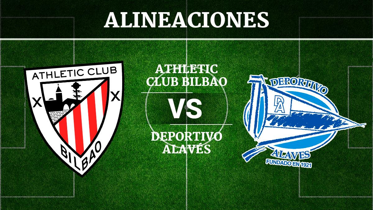 Consulta las posibles alineaciones del Athletic de Bilbao vs Alavés