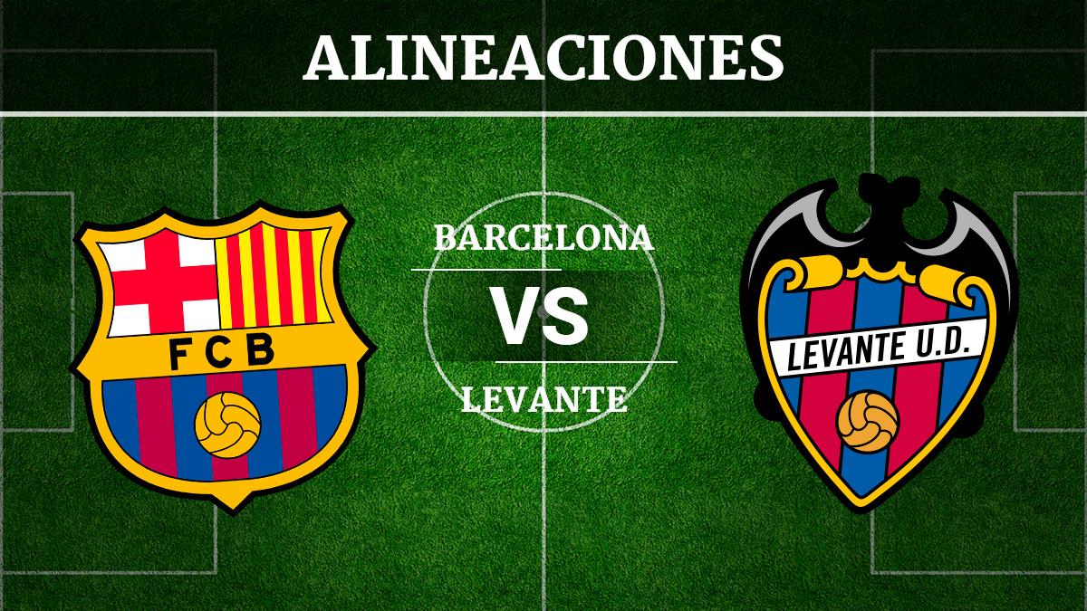 Consulta las posibles alineaciones del Barcelona vs Levante