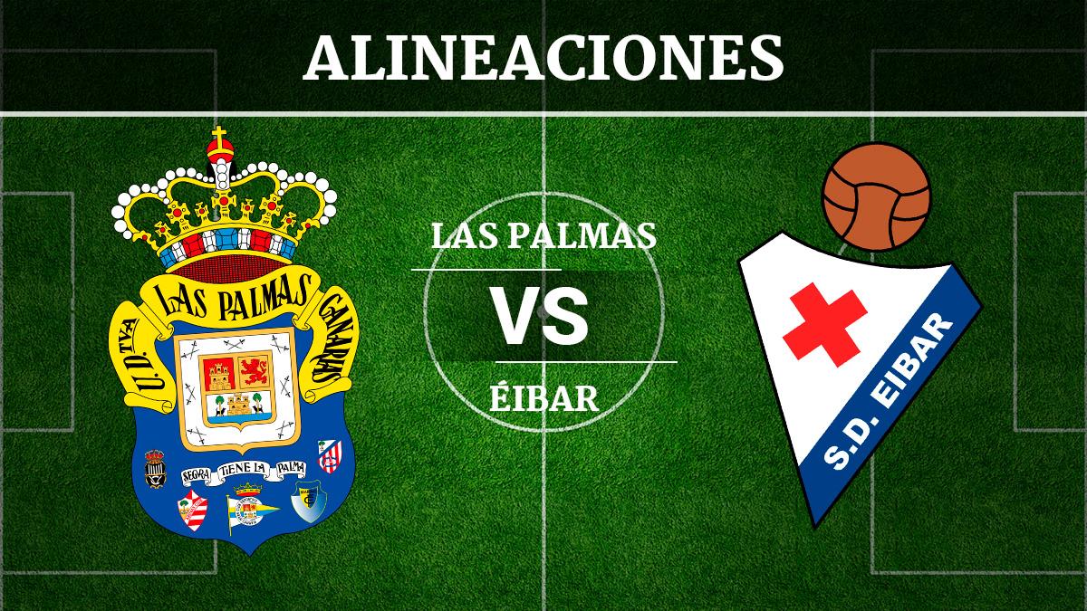 Consulta las posibles alineaciones del Las Palmas vs Éibar