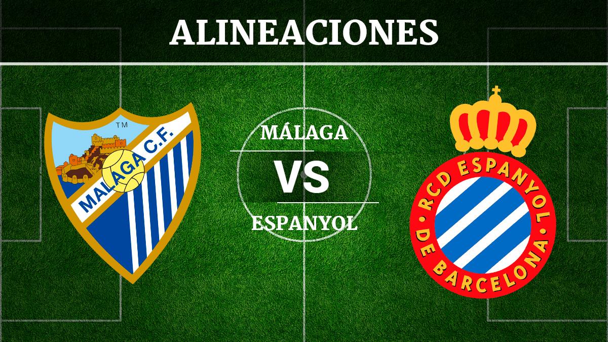 Consulta las posibles alineaciones del Málaga vs Espanyol
