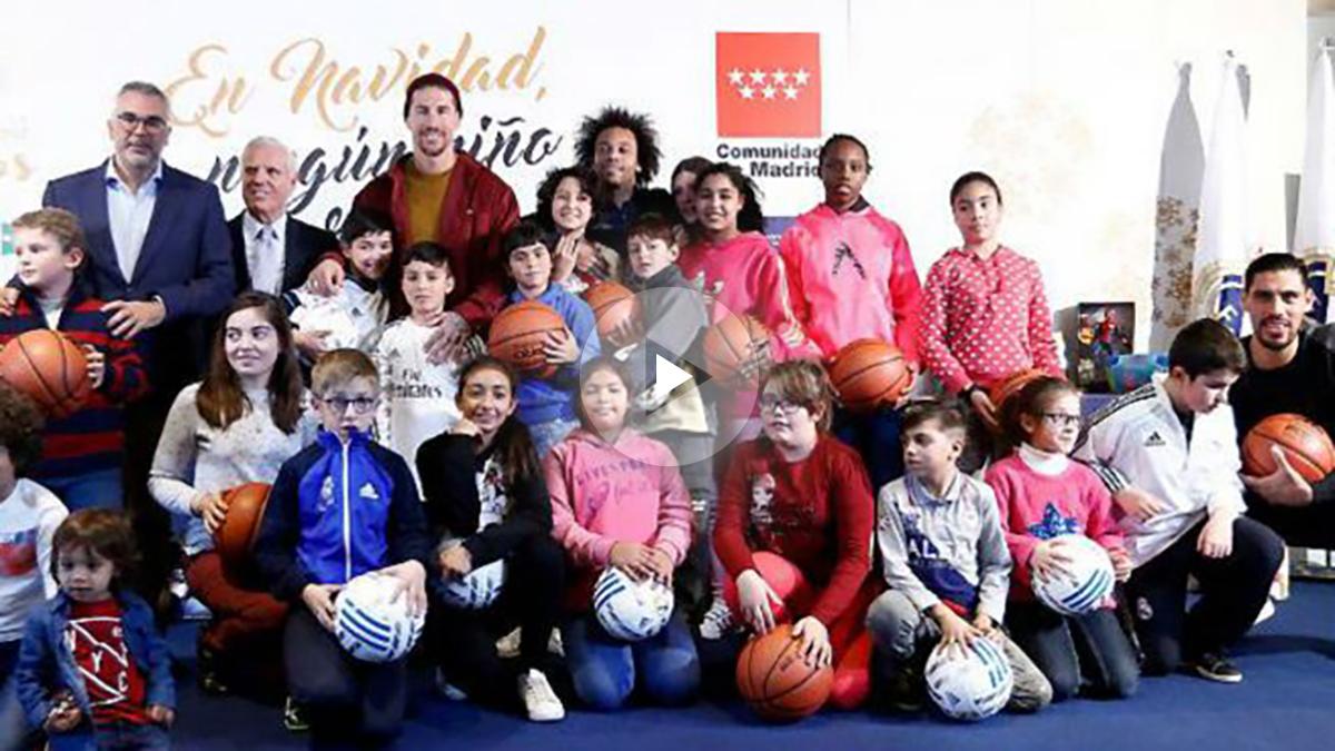 La Fundación Real Madrid presenta la campaña, 'En Navidad, ningún niño sin regalo'. (realmadrid.com)