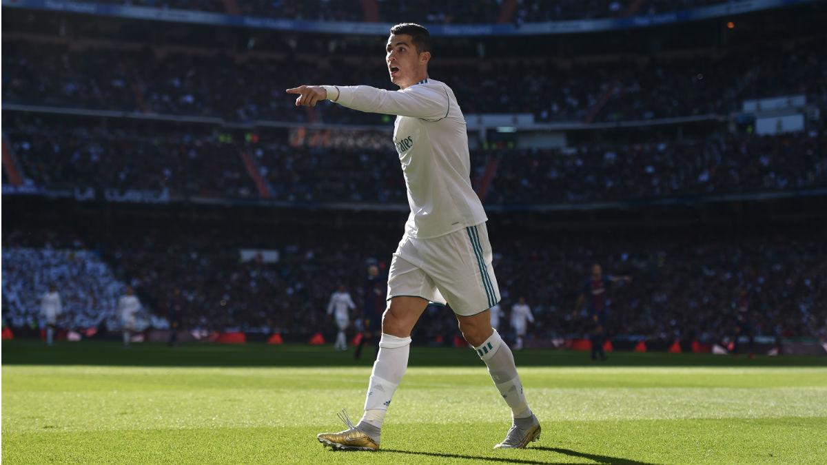 Cristiano Ronaldo durante el Clásico celebrado el pasado 23 de diciembre, en el Bernabéu (Getty).
