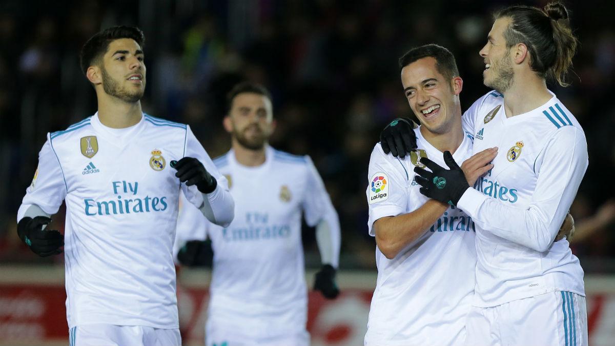 Bale celebra el 0-1 ante el Numancia. (AFP)