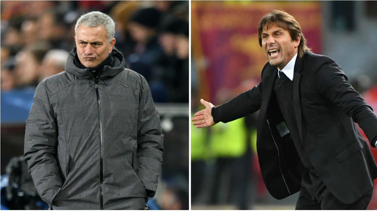 Sigue la guerra entre Mourinho y Conte. (Getty)
