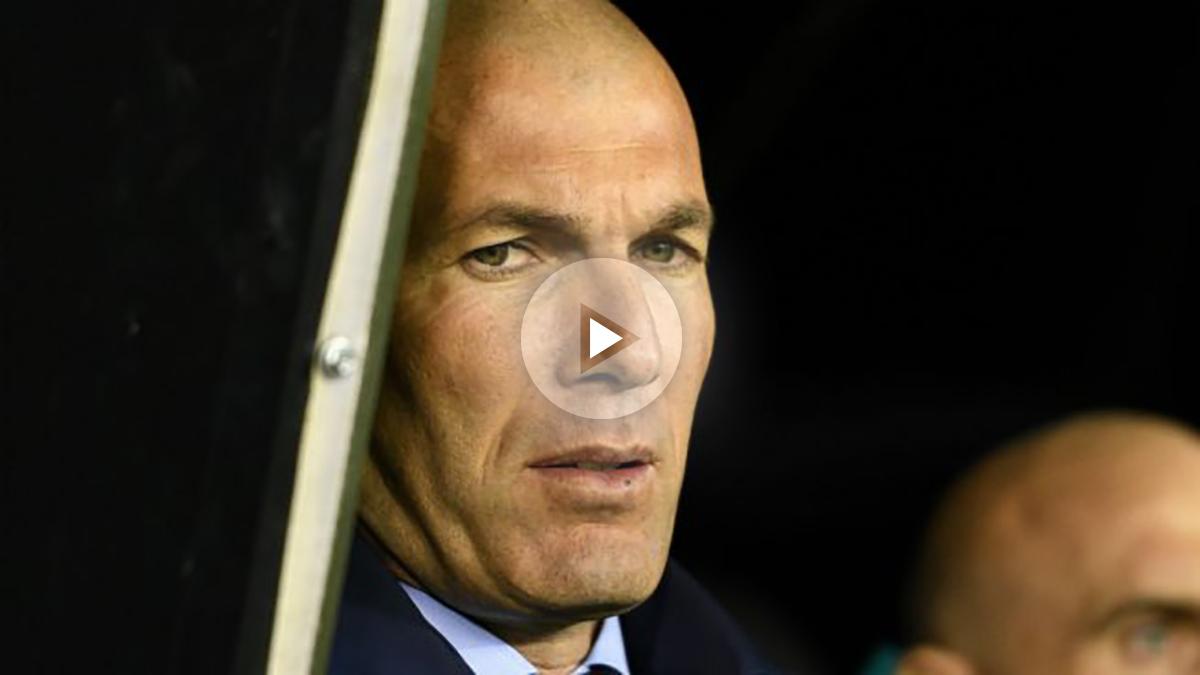 Zidane durante el partido ante el Celta (Getty)