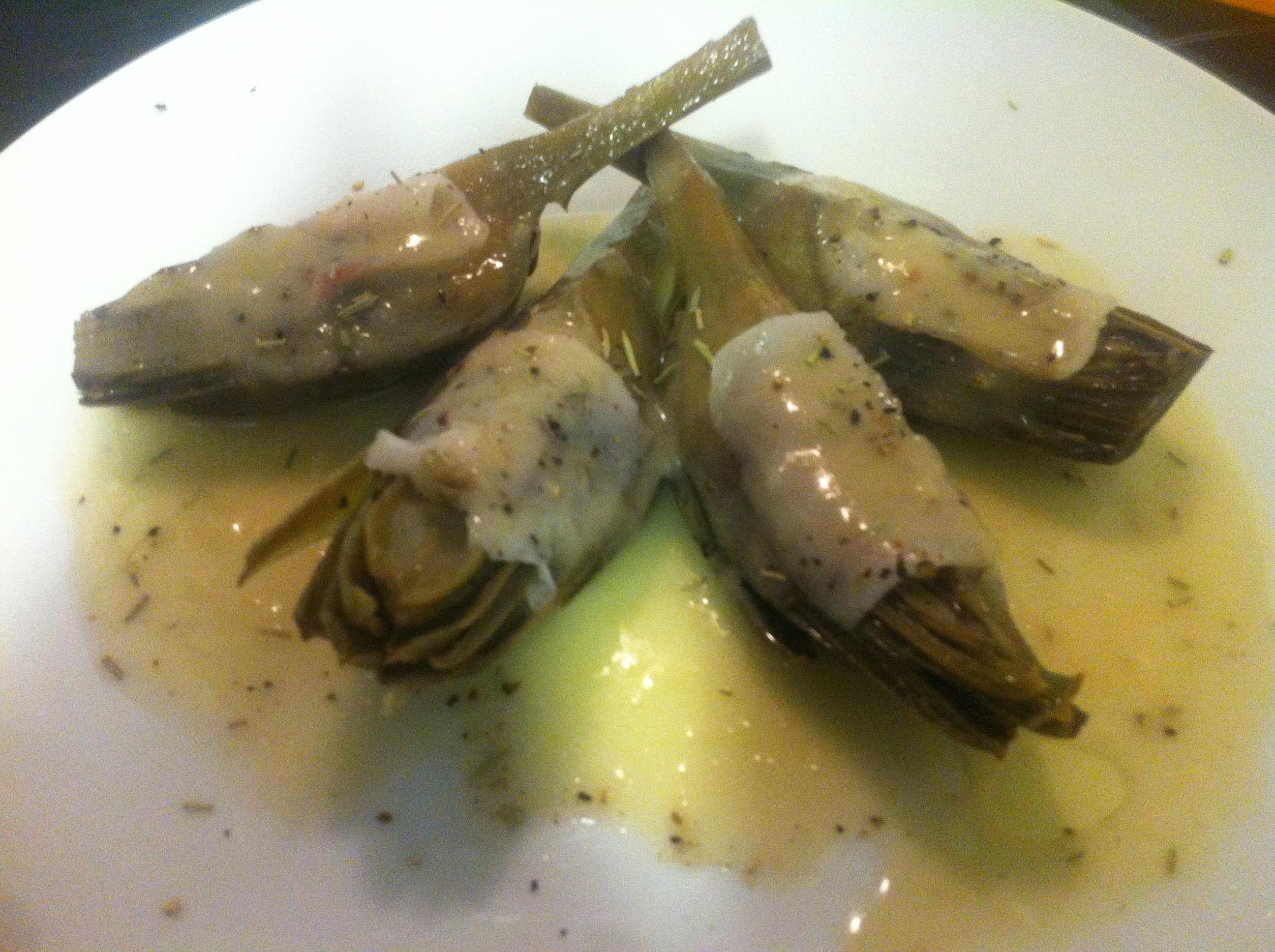 Alcachofas-en-escabeche-con-tocino-ibérico-y-salsa-de-jamón4