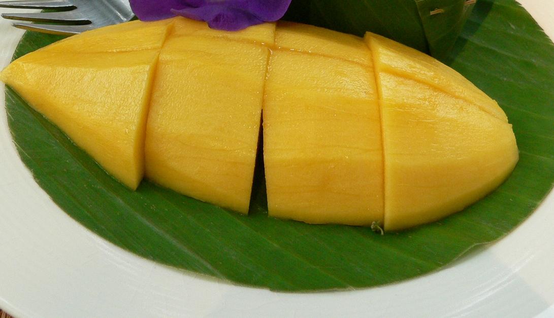 Ensalada con mango y pimientos