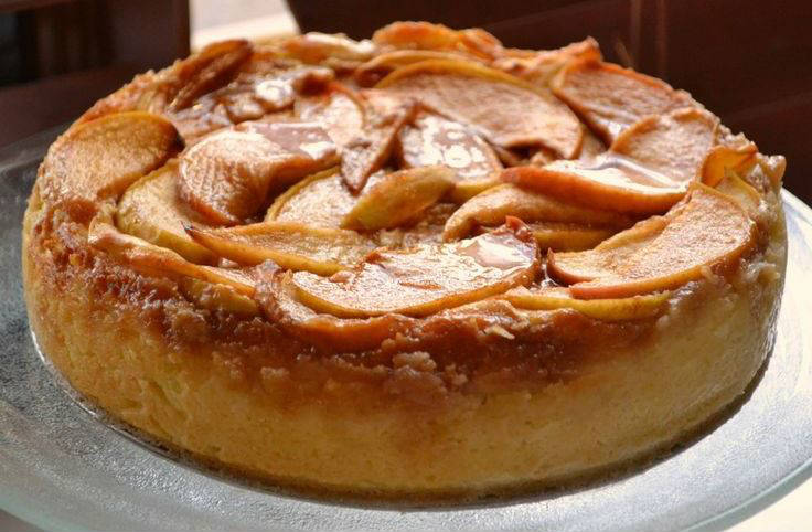 Flan de manzana light