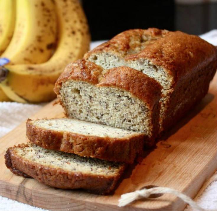 Receta de Pan de Plátano o Banana Bread (receta norteamericana)