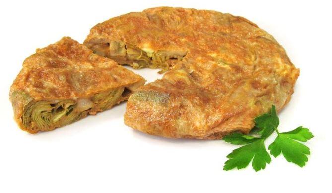 Tortilla de alcachofas 2