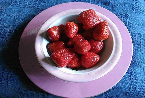 Mousse de fresas light