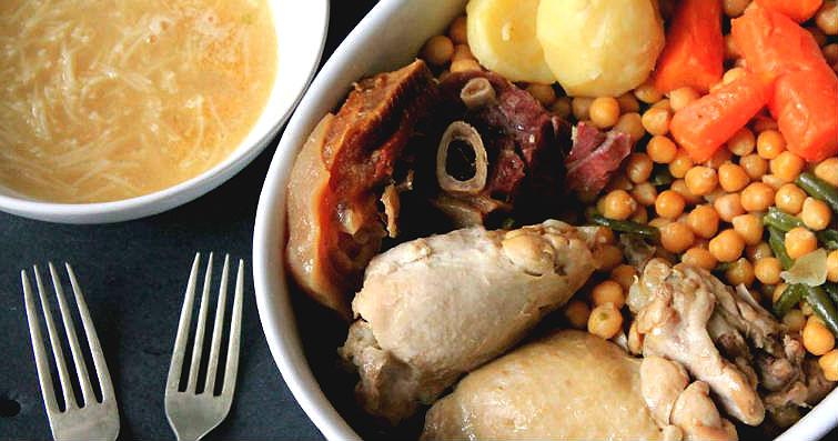 cocido casero - Caldo de carne casero