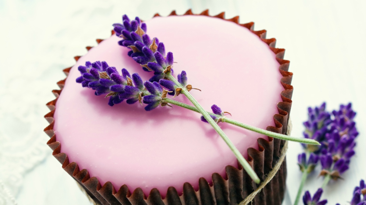 Receta De Cupcakes Con Flores De Lavanda