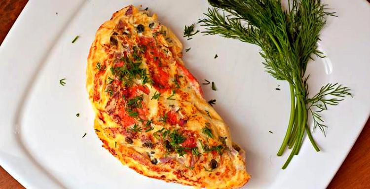Tortilla de salmón ahumado