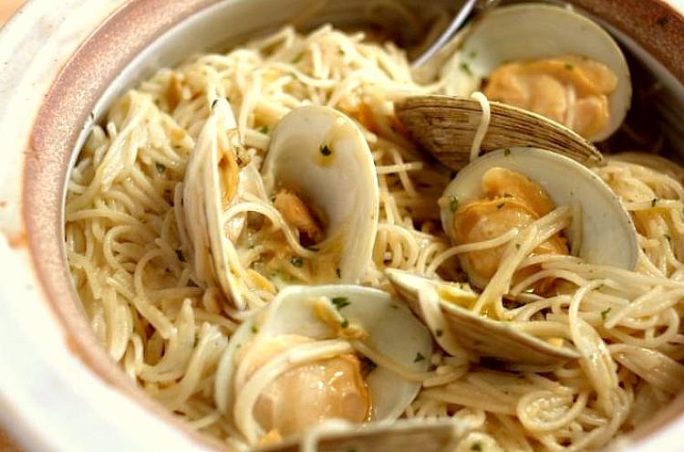 Espaguetis a la vongole