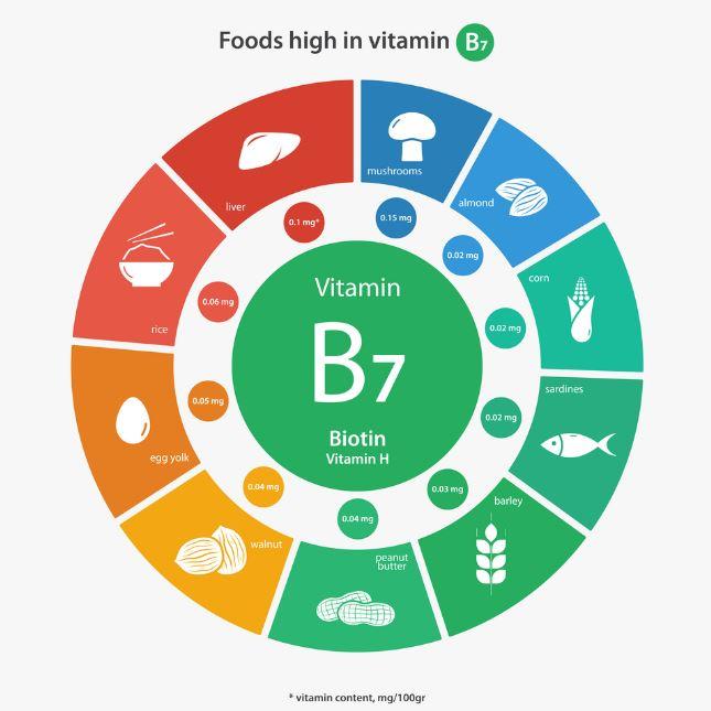 Resultado de imagen para vitamina b7