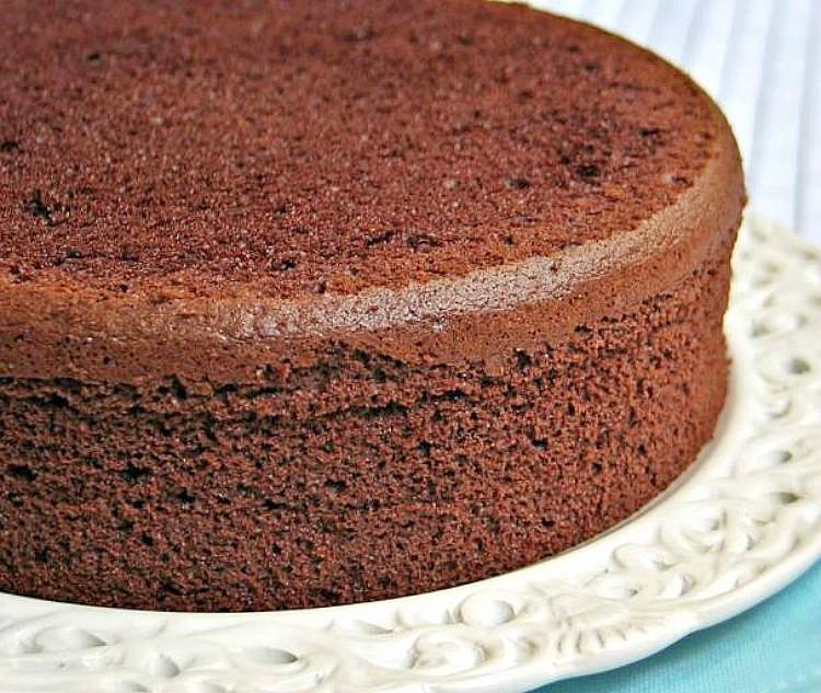 Bizcocho de chocolate sin azúcar