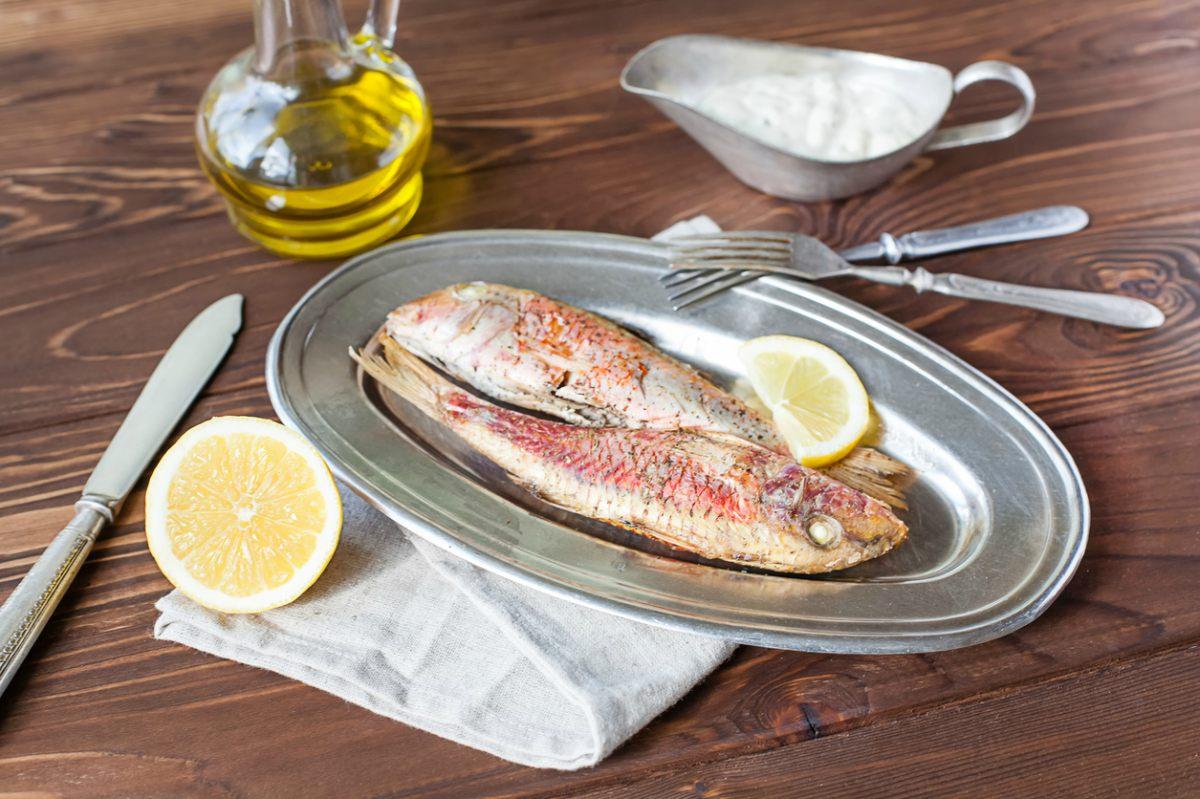Receta de salmonetes a la plancha