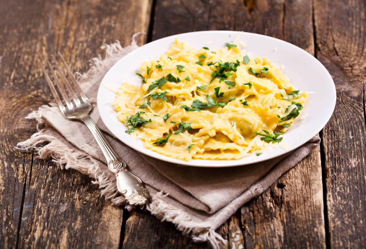 Receta de raviolis de queso ligero