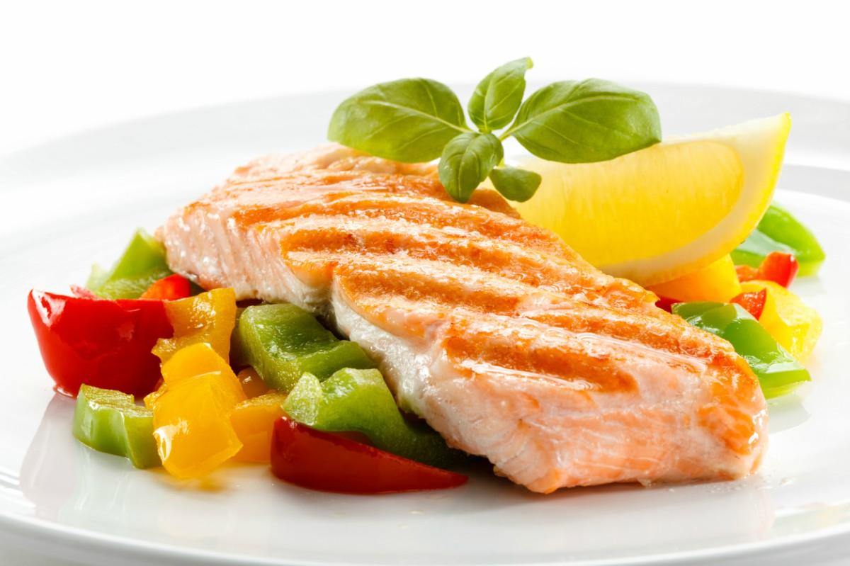 Receta de salmón asado