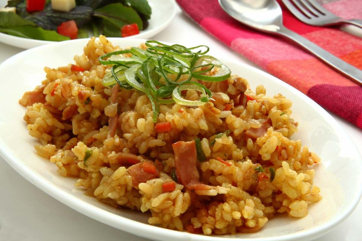 Receta de arroz con jamón