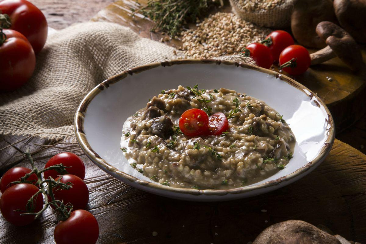 Receta de risotto con carne y setas