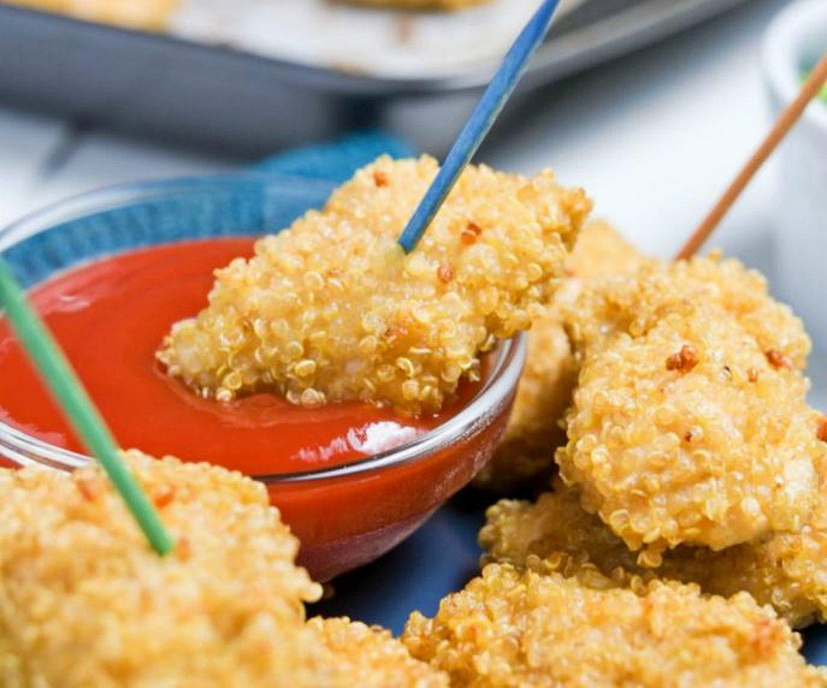 Receta de nuggets de quinoa y pollo