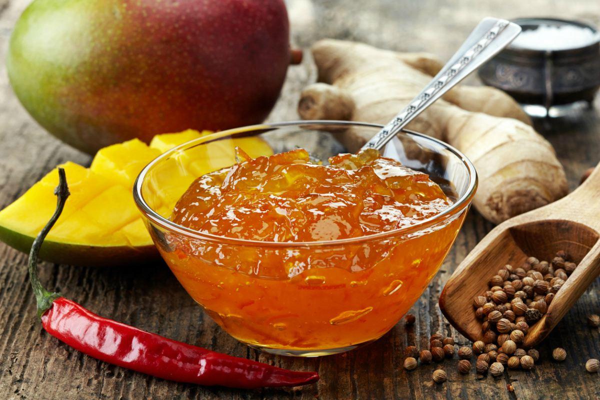 Receta de chutney de mango