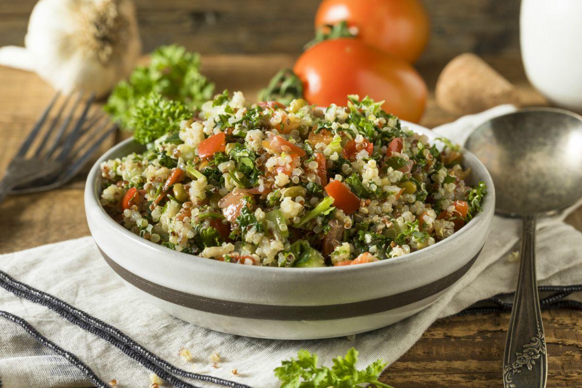 Receta de tabulé de quinoa