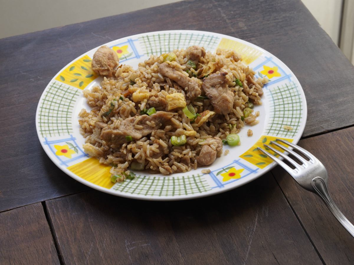 Receta de arroz integral con pollo