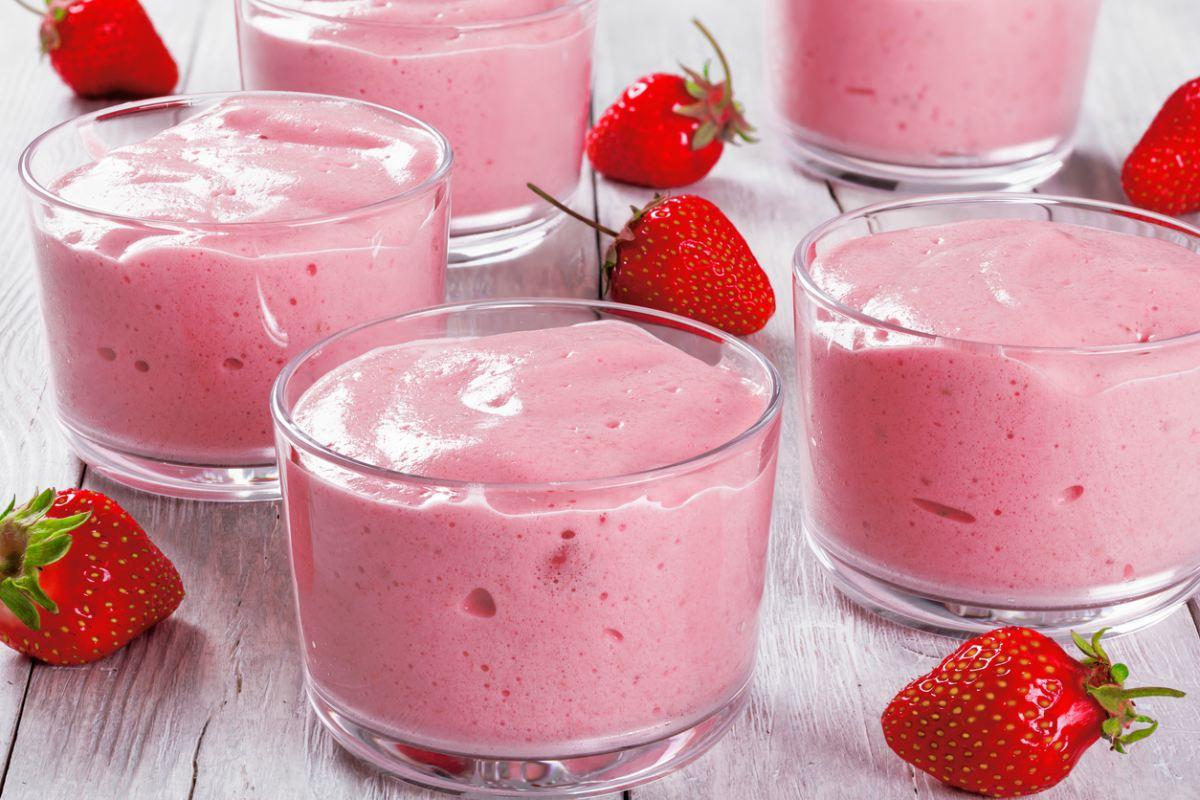 Crema De Fresa Con Proteínas