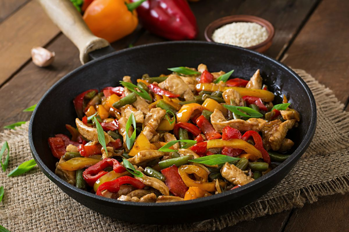 Receta de wok de pollo
