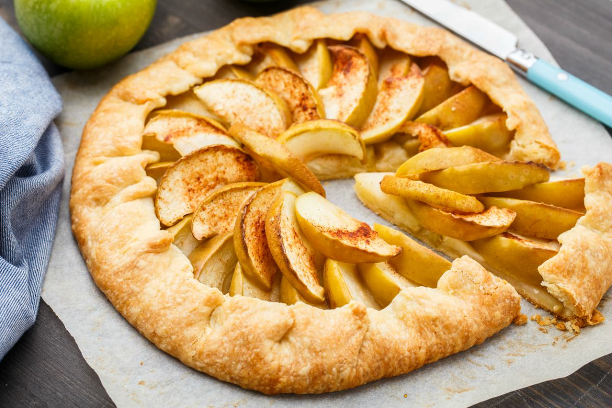 Receta de galette de manzana
