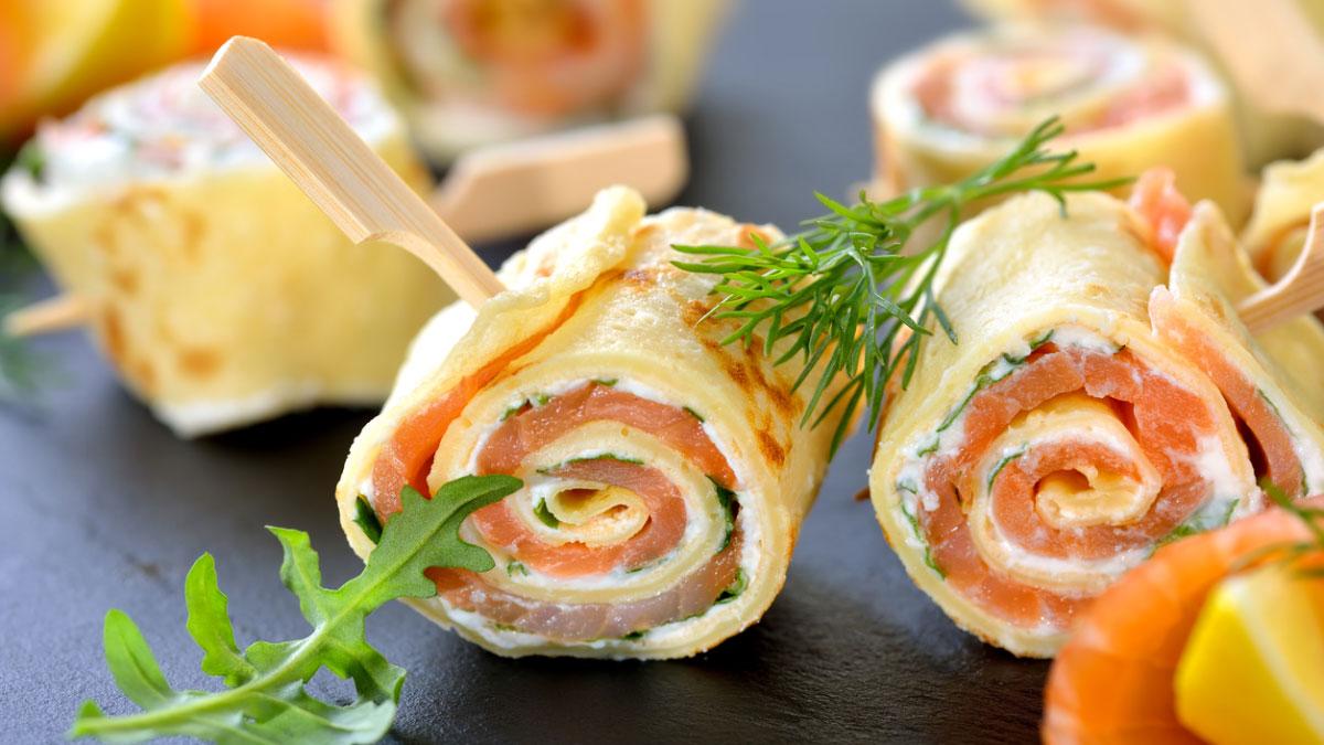 Receta de rollitos de salmón