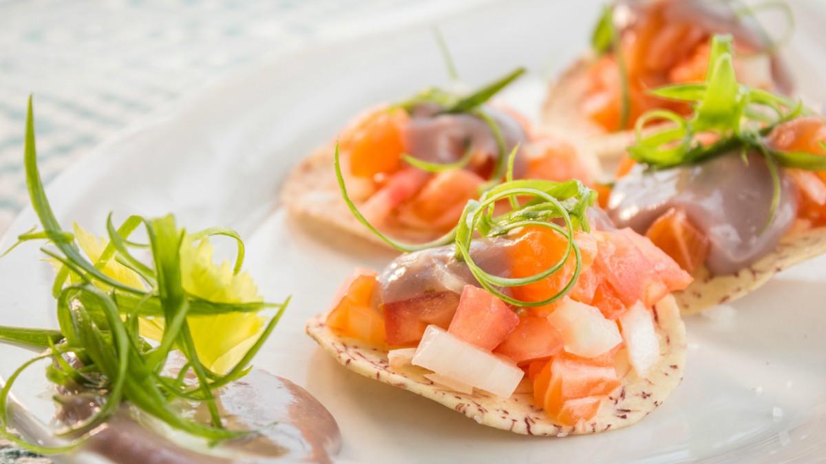 Receta de ceviche de salmón.