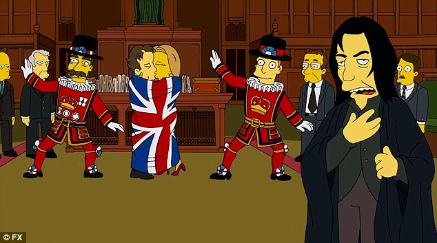 Tributo de David Bowie y Alan Rickman en 'Los Simpsons'