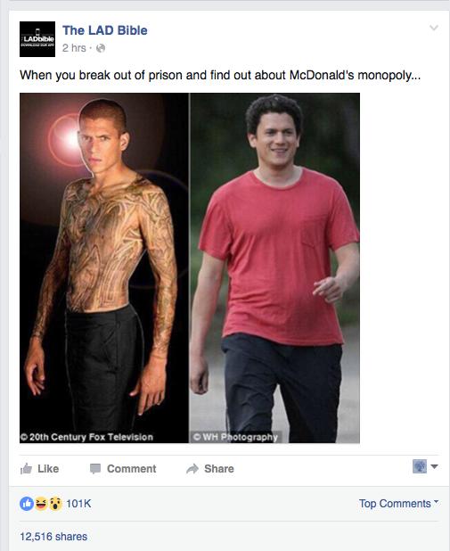 'Prison Break': Wentworth Miller molesto por las bromas
