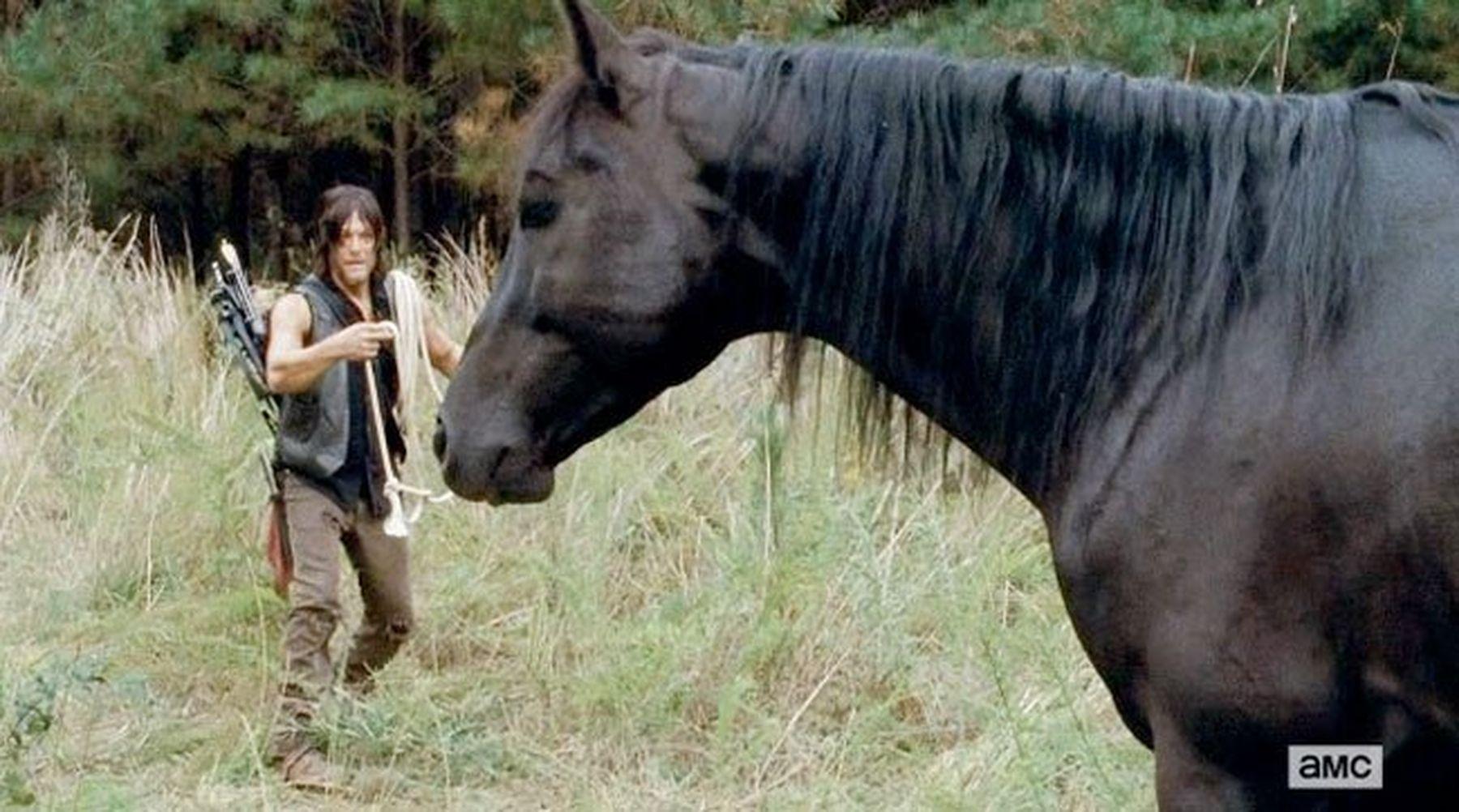 The Walking Dead: ¿y si Daryl fuese en caballo en vez de en moto?