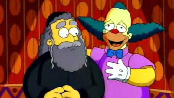 Los Simpson traen de vuelta al padre de Krusty el payaso