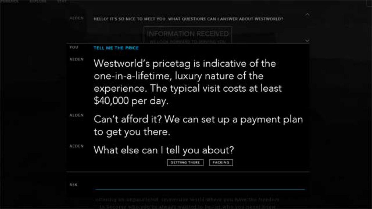 Westworld: ya tenemos el humilde precio de la entrada al parque