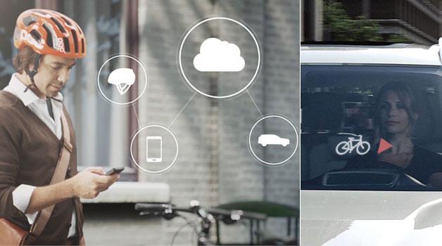 Nace un casco para ciclistas que localiza su posición e informa a los conductores
