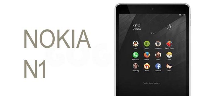N1, la última tablet de Nokia que ya se vende